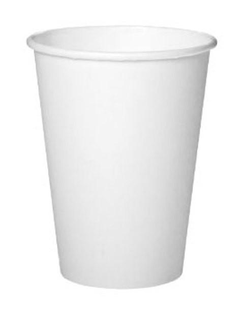 Бумажный стакан 340 мл белый