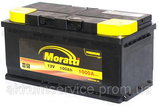 Аккумулятор автомобильный  Moratti 100AH R+ 1000A