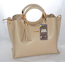 Женская сумкаB.Elit, бежевая