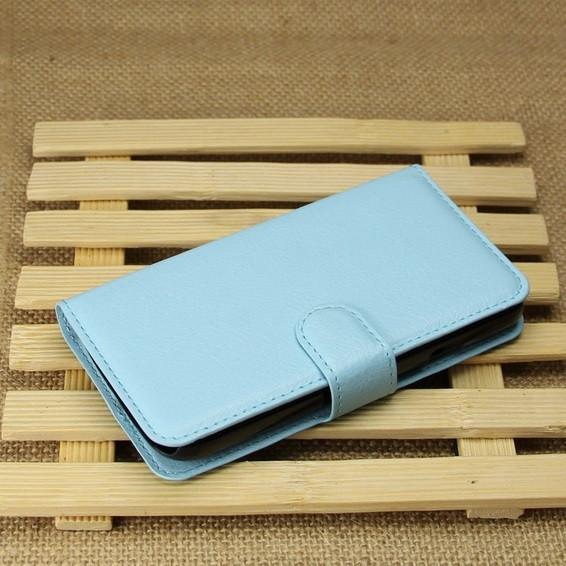 Чехол подставка для LG L65 D280 D285 голубой