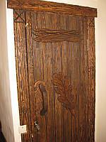 """Двери под старину  """"Дубовый лист."""""""