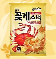 Чіпси крабові, Crab Chips, Paldo, 50г