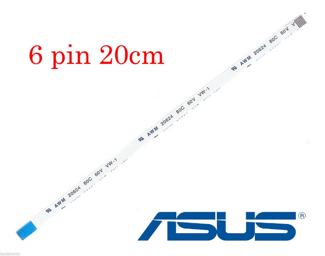 Кабель шлейф кнопки включения  ASUS X450CC F550V X750 - 6 pin 20см FFC FPC