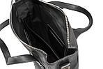 Мужская стильная сумка VS002 leather fleet black 27х23х7 см, фото 4