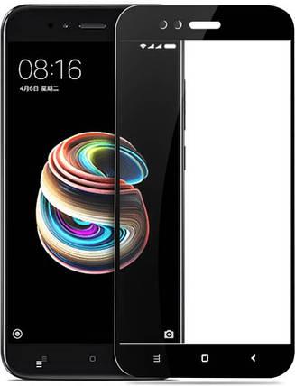 Стекло Full Coverage для Xiaomi Mi A1 цвет Black (полный клей), фото 2