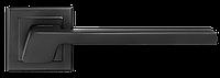 Ручка дверная на розетке A-2016 BLACK/WHITE/MC