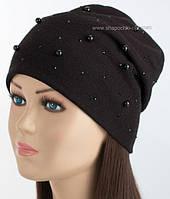Женская шапочка черного цвета металл никель