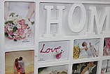 Фото-коллаж белый для 10 фотографий, Дом, 72,5х37 см, фото 3