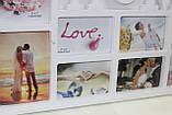 Фото-коллаж белый для 10 фотографий, Дом, 72,5х37 см, фото 2