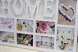 Фото-коллаж белый для 10 фотографий, Дом, 72,5х37 см, фото 5