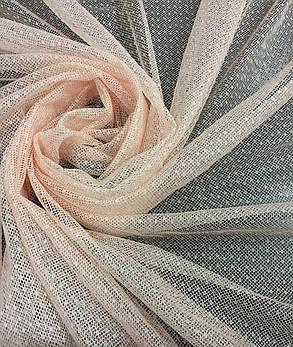 Тюль гипюр Соренто Крем, готовая тюль 3м, фото 2