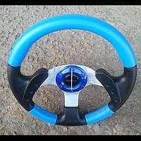 Руль Momo №579 (синий) с переходником на ВАЗ 2109., фото 1