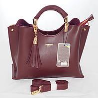 Женская сумка B.Elit, бордовая, фото 1
