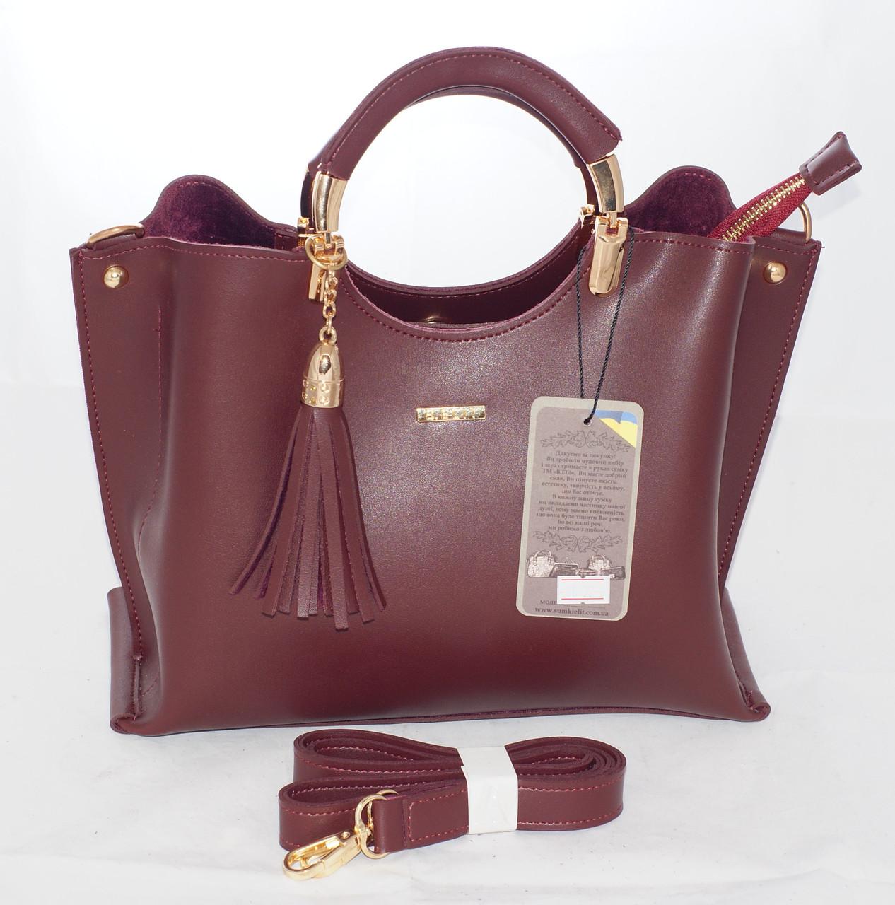Женская сумка B.Elit, бордовая