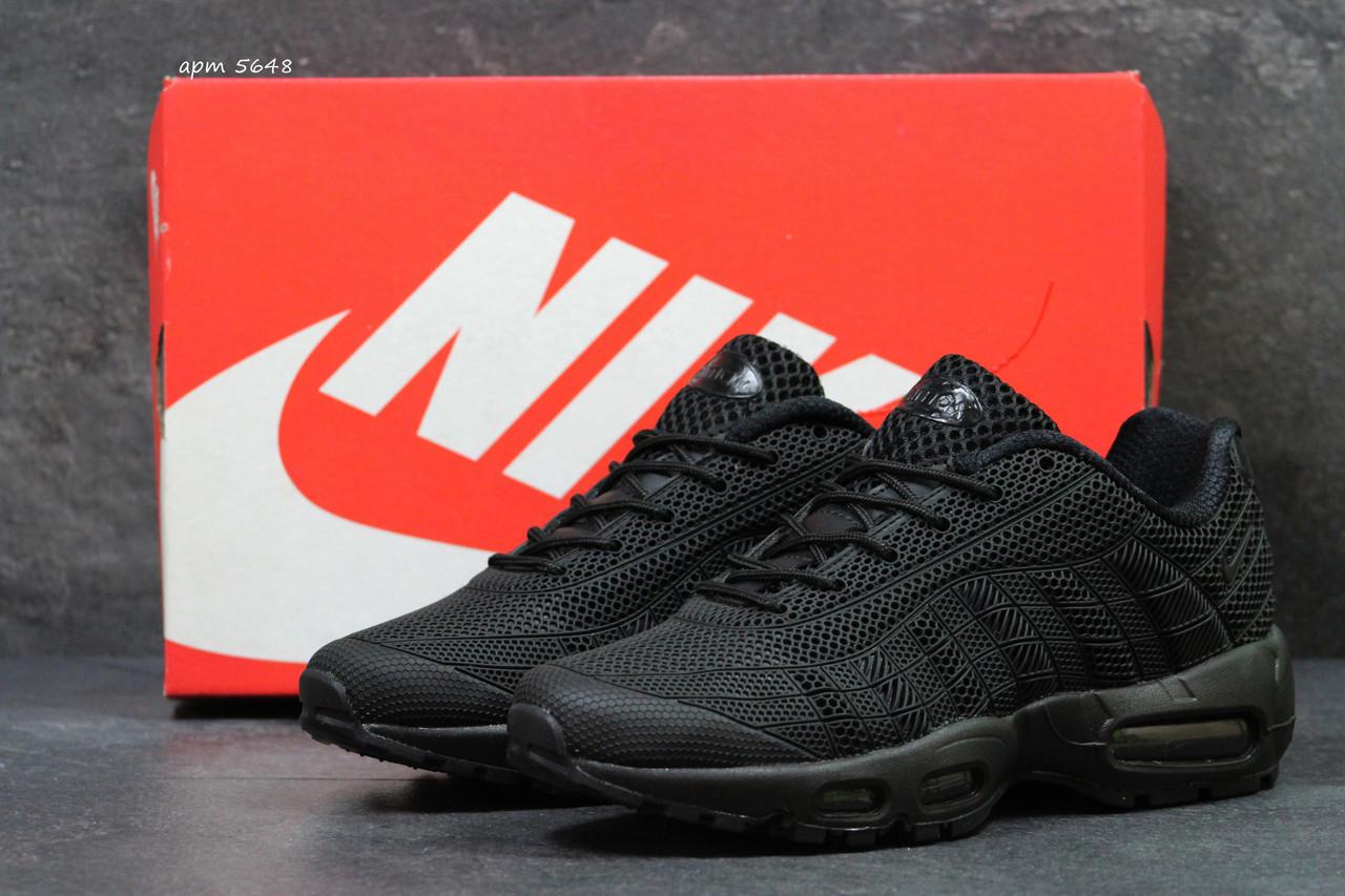 6a2db8d4 Купить Мужские кроссовки Nike Air Max TN реплика черные ( сетка ...