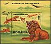 Румыния 2000 дикие животные, кошачьи - блок - MNH XF