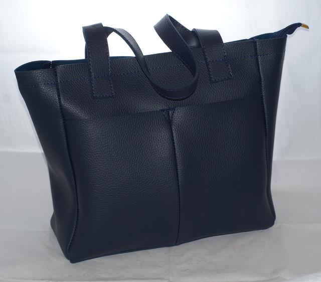 e80e871f6126 Большая женская сумка-шоппер B.Elit, синяя. Стильная женская сумка от украинского  производителя