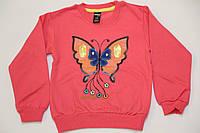 """Джемпер для девочки """"бабочка"""" коралловый, размер  5-6"""