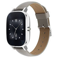 Smart Watch ASUS ZenWatch 2 Stainless Steel WI502Q Silver/Khaki Leather 0,5/4gb 300 мАч ip67 Snapdragon 400