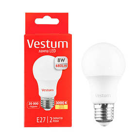 Светодиодная лампа Vestum 8W E27 Теплый свет
