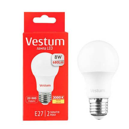 Светодиодная лампа Vestum 8W E27 Теплый свет, фото 2