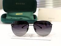 Солнцезащитные очки в стиле GUCCI (4398) black, фото 1
