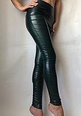 Женские лосины из эко-кожи №49 зеленая, фото 3