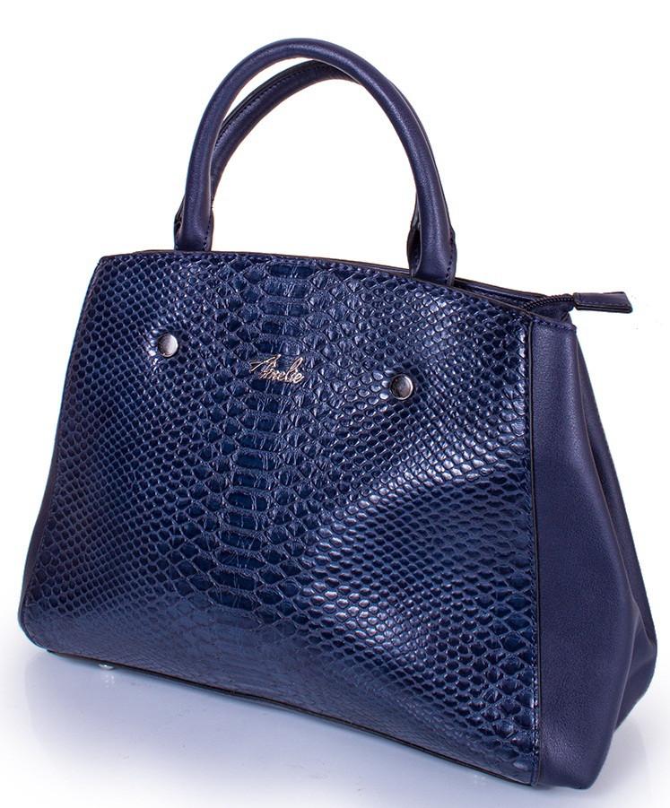 Женская сумка AMELIE GALANTI A981136-blue кожзам синяя