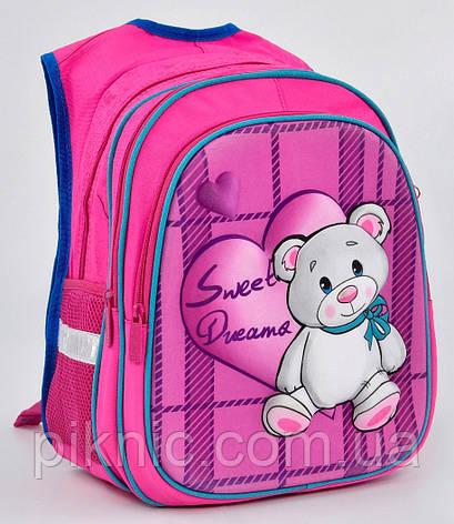 14356a10fade Школьный рюкзак Мишка 3d для девочек 1, 2, 3, 4 класс. Портфель ...