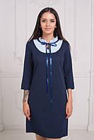 Комбинированное платье / костюмка, вискоза / Украина 25-1703, фото 1