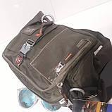 Сумка городская мужская 8 литров 27 х 22 х 10 см молодежная коричневая, фото 6