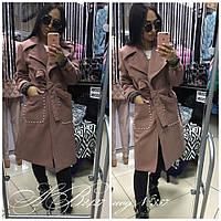 Пальто стильное из кашемира женское  Ульяна 357