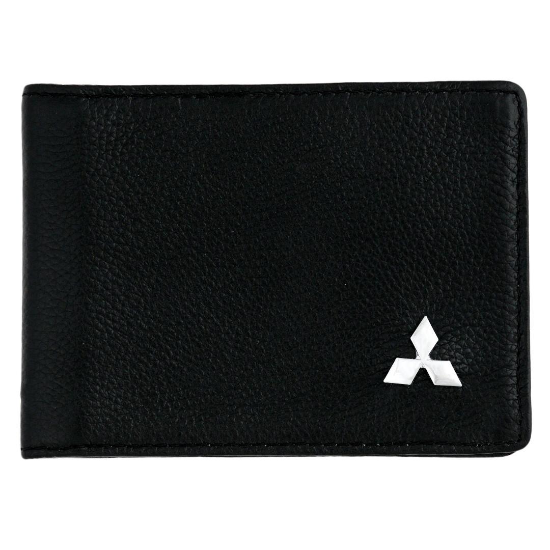 Кожаная обложка для прав AZU с логотипом Mitsubishi
