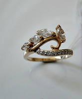 Женское золотое кольцо 3.05 грамма 17.5 размер ЗОЛОТО 585 пробы, фото 1