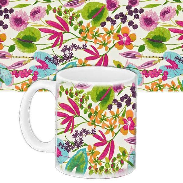 Кружка подарок с принтом Цветы (33245)
