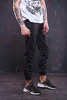 Мужские спортивные штаны черные бренд ТУР модель Рокки S