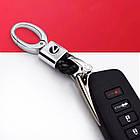 Кожаный брелок-карабин AZU с логотипом Lexus, фото 3