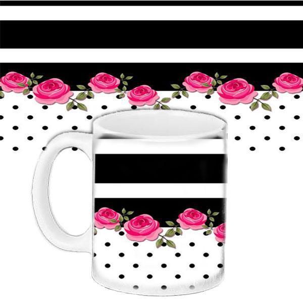 Кружка подарок с принтом Розовый розы (33288)