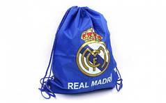 Рюкзак-мешок GA-1914-RMAD-1 REAL MADRID (PL, р-р 40х50см, синий)