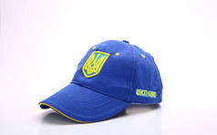 Кепка спортивная (бейсболка) детская Украина CO-1928 (хлопок, р-р 54-55см, синий-желтый)