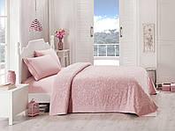 Набор постельного белья TAC сатин + махровая простынь - Lyon a.gul kurusu  розовый евро c30b000c14d73