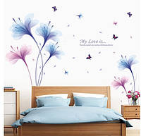 Интерьерная наклейка на стену Цветы XL8262