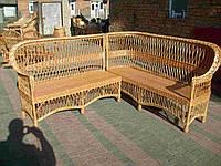 Набор плетеной мебели диван угловой (разборной на 2 дивана из лозы)