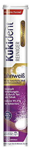 Таблетки Kukident Zahnweiß для очищення зубних протезів отбеливающии