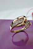 Золото 585 пробы Женское Кольцо 2.53 грамма 18 размер, фото 6