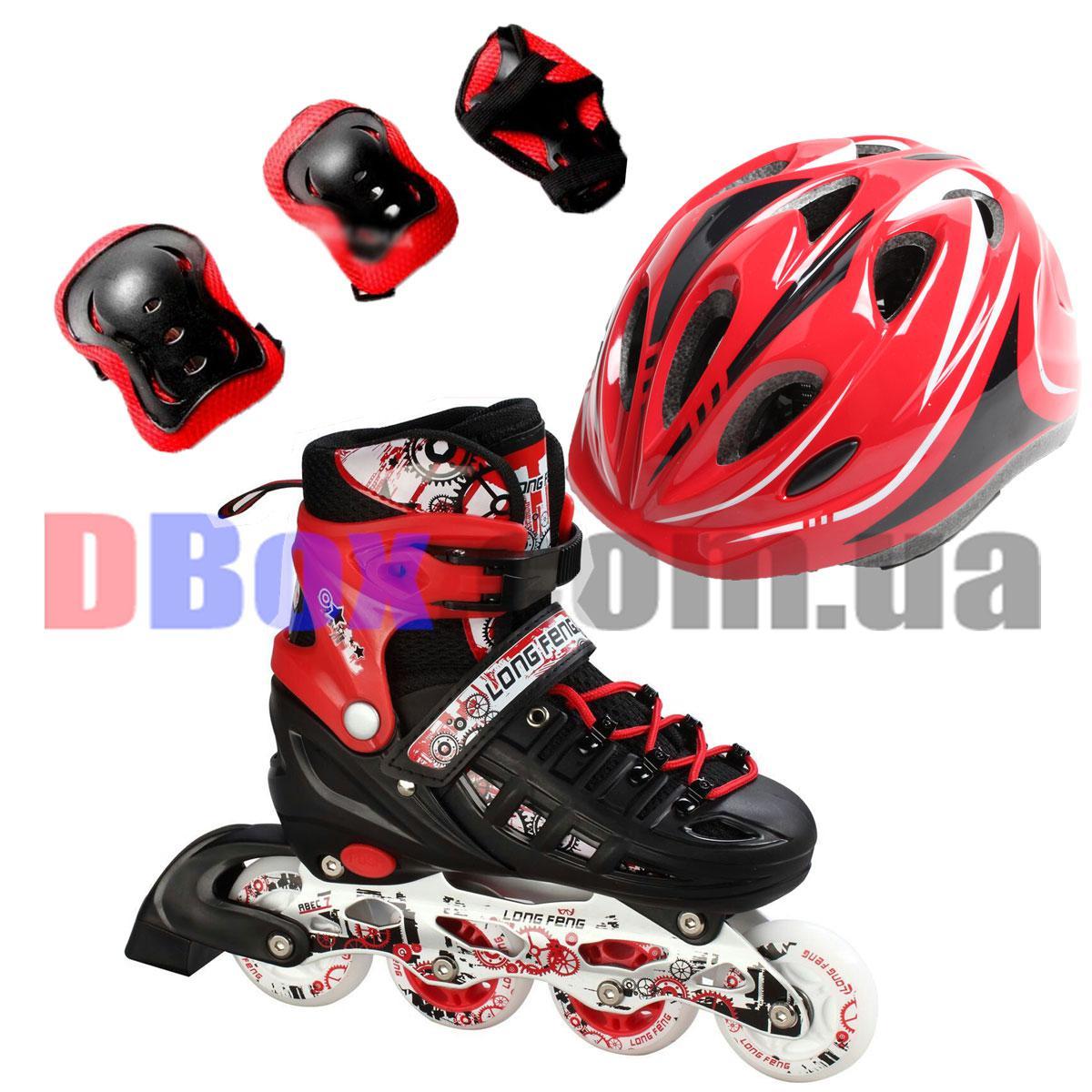 Ролики детские раздвижные Scale Sports Combo Pro - USA (защита + шлем) (2T3040P)