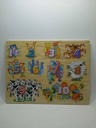 Игра Дерево Цифры и животные 779-608 (72) в кульке, фото 2