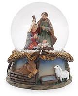 Декоративный водяной шар Вертеп 9 см (6 штук в упаковке)