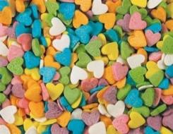 Посыпка сердечки цветные 50 грамм