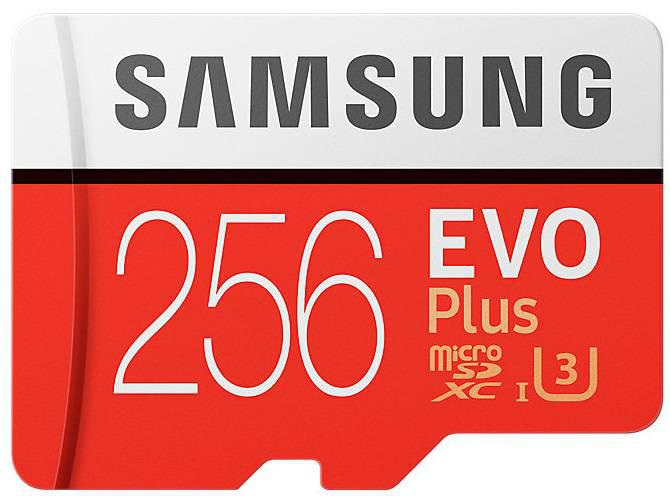 Карта памяти Samsung 256GB microSDXC C10 UHS-I U3 R100/W90MB/s  Evo Pl